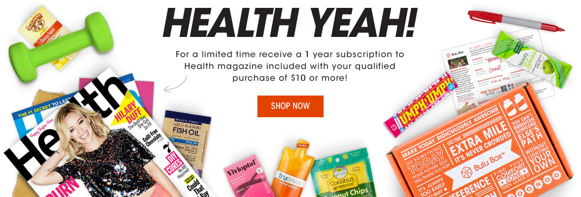 Get a 1 year subscription to Health magazine with any $10 purchase!