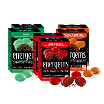 Energems Milk Chocolate Mint Chocolate Peanut Butter Chocolate | Bulu Box - sample superior vitamins and supplements