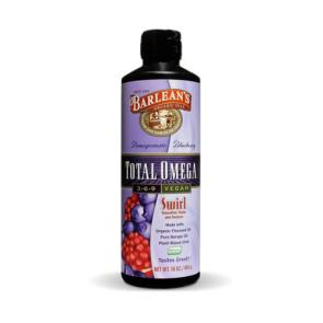 Barlean's Total Omega 3-6-9 Vegan - Pomegranate Blueberry | Bulu Box - Sample Superior Vitamins and Supplements