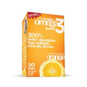 Coromega Omega-3 Squeeze Packets | Bulu Box - sample superior vitamins and supplements