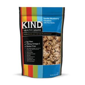 Kind Healthy Grains Clusters Vanilla Blueberry with Flax Seed Clusters | Bulu Box - sample superior vitamins and supplements